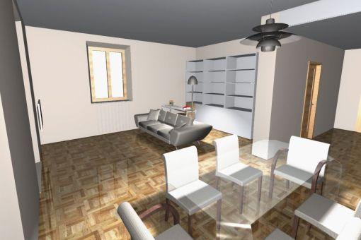 Progettazione con archicad - Arredamento sala ...
